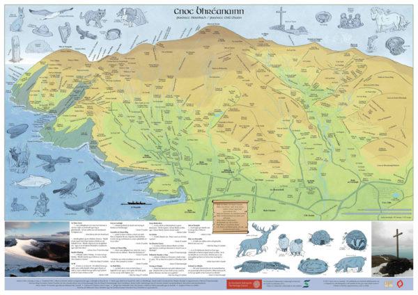 Map of Mount Brandon / Mapa Chnoc Bhréanain